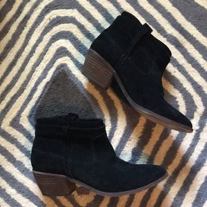 Joie Black Suede Elvis ankle boots